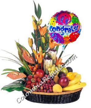 Enviar Arreglo De Flores Y Frutas A Colombia Primavera